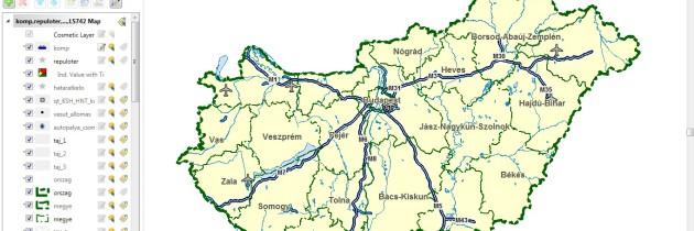 Térképcsomag Magyarország közigazgatási határvonalaival