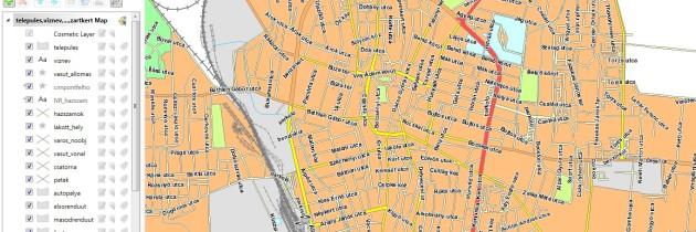 Utca szintű vektortérkép Magyarország településeire